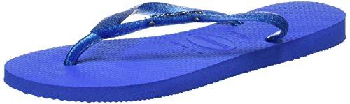 Havaianas Slim Logo Metallic, Sandali Donna, Blu (Blue Star 3847), 39/40 EU