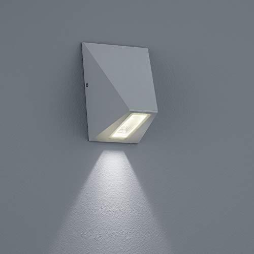 Feste Trim (Helestra LED Downlight Trim Silbergrau IP65 | LEDs fest verbaut 6W 520lm warmweiß | A18515.46)
