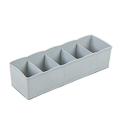 Ogquaton Cajones Organizador Cajas Ropa Interior Armario Organizador 5 Compartimentos Caja de plástico pequeña para Calcetines, Bragas, lencería, Corbata, Sujetadores 1 Durable y útil