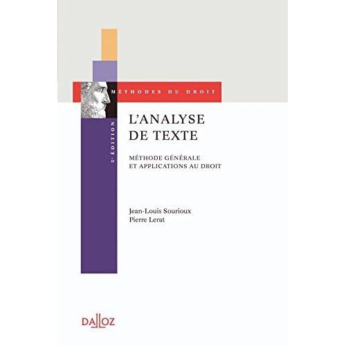 L'analyse de texte. Méthode générale et applications au droit - 5e éd.
