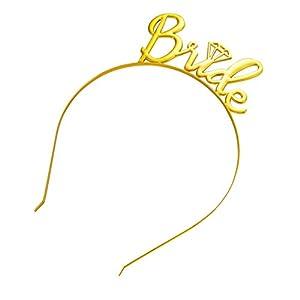 CANDLLY Stirnband Damen, Kopfbedeckung Zubehör Braut einfache Diamant Krone Haarschmuck Stirnbands Hochzeit Zubehörs Kopfschmuck