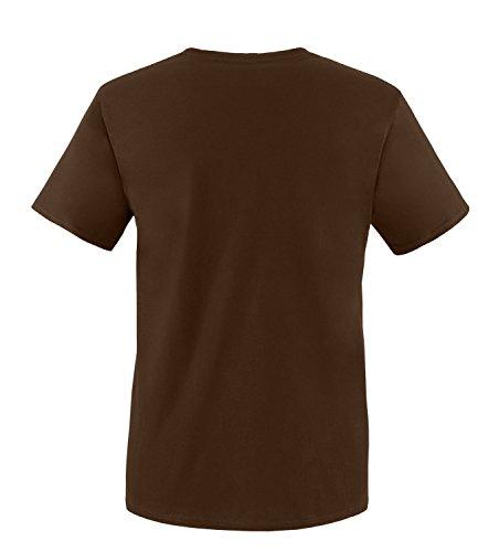 EZYshirt® Maler Evolution Herren Rundhals T-Shirt Braun/Weiss/Neongr