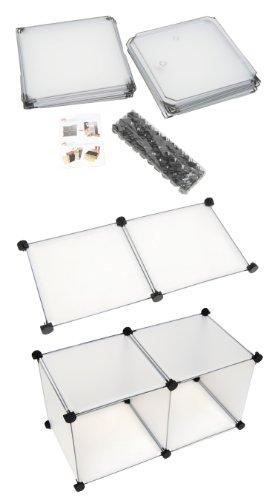 Transparentes Badezimmer Regalsystem - 3