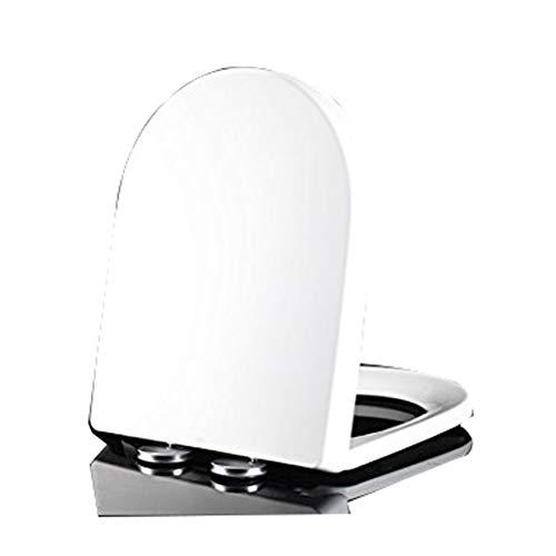 DOOD Toilet Seat mit hochwertige und stabile Qualität,WC-Sitz/WC-Sitze/WC-Deckel für Familien Anti-Rutsch mit Easy Fix Clean (groß U-förmig)