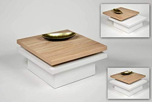 Küchen-Preisbombe Wohnzimmer Couchtisch Sofatisch Beistelltisch Tisch Couch Sonoma Weiß schwenkbar
