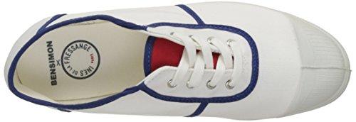 Bensimon Tennis Ines de la Fressange, Baskets Basses Femme Blanc (Blanc)