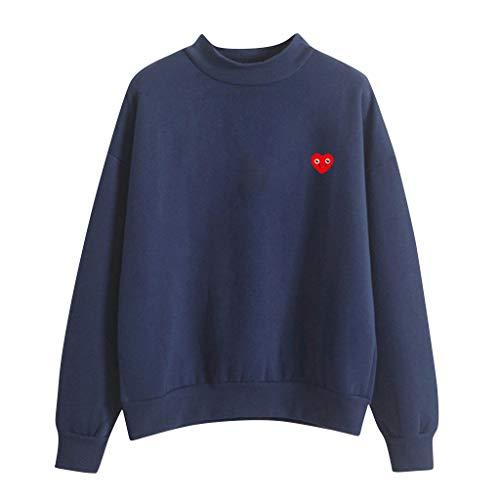 TWISFER Damen Oberteile Lässige Tshirt Mode Frauen Tops O-Ausschnitt Einfarbig Muster Langarm Plus Samt Sweatshirt - Kostüm Schmuck Los Angeles
