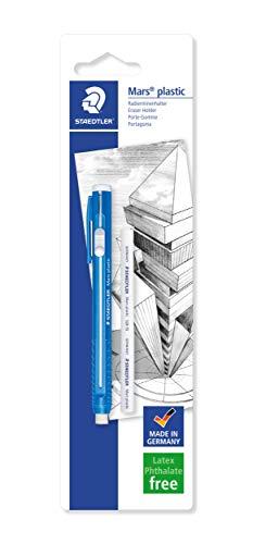 STAEDTLER 528 50BKDA. Portagomas para papel y papel vegetal. Paquete con una unidad de goma de recarga.