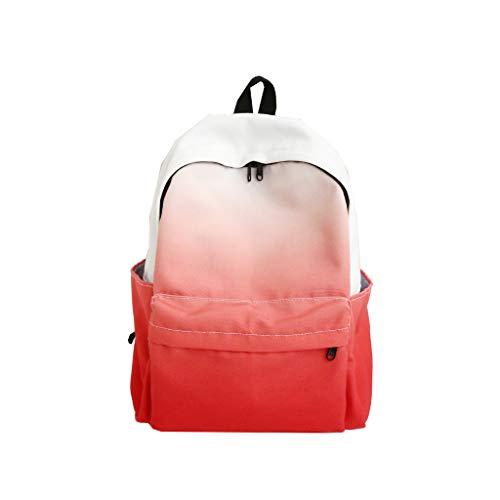 LEEDY Mädchen Rucksack Damen Grosse Kapazität Canvas Schultertasche Schultaschen Steigung Schule Daypack Lässig Travel Schulrucksack - Heritage Produkte Rose