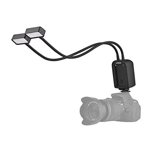 Andoer GN15 Blitz Blitz Makro Speedlite Lampe mit flexiblem Metallwinkel einstellbar für Canon Nikon Panasonic Sony Olympus Kamera (Alpha) Fujifilm Pentax...