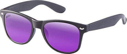 MSTRDS Likoma Mirror Unisex Sonnenbrille Für Damen und Herren mit verspiegelten Gläsern, black/purple