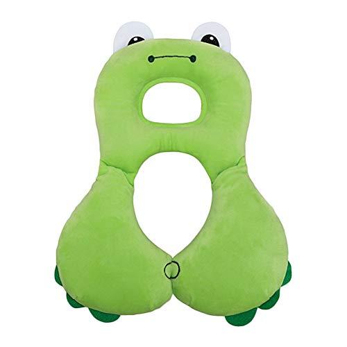 Baby-Reisekissen - Kopf-, Nacken- und Kinnstütze für Babyautositze - Lindern Sie Nackenermüdung und pflegen Sie die Halswirbelsäule Ihres Babys - für 1-4 Jahre (grüner Frosch)