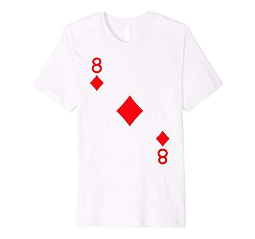 Acht von Diamanten Kostüm T-Shirt Halloween Deck Of Cards