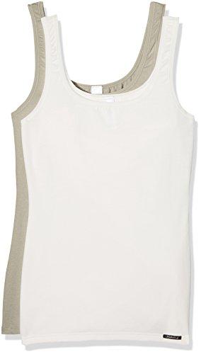 Skiny Damen Unterhemden Advantage Cotton Tank Top 2er Pack safari selection