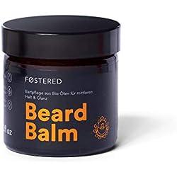 FOSTERED Beard Balm mit Bio Ölen - Bart Balsam 60 g für die perfekte Bartpflege - Natürlich weicher und gepflegter Bart