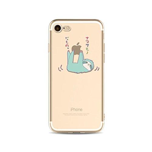 KSHOP Case cas TPU Silicone pour iphone SE / iphone 5 / iphone 5s Coque Case Cover Housse de protection Shell avec mince motif d'impression - La Licorne Les nuagesarc-en-ballon K01