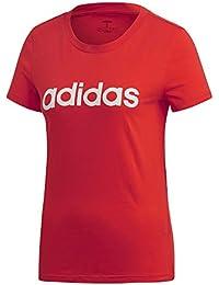 Tee Donna Essentials Active Adidas 40 Linear Slim Maglietta S Rossobianco BtfTtXqwx