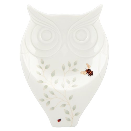 Lenox Butterfly Meadow Figural Owl Spoon Rest, White