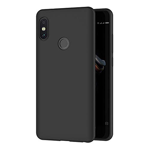 AICEK Xiaomi Redmi Note 5 Hülle, Schwarz Silikon Schutzhülle für Xiaomi Redmi Note 5 Pro Case TPU Bumper Redmi Note 5 Handyhülle (5,99 Zoll)