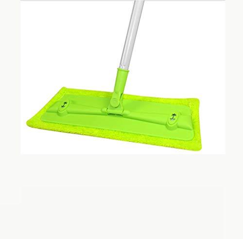 YXWtba Wischmop Mopp Flacher Haushalts-Rotationsmop mit saugfähigem Flusenwischer (Farbe : S)