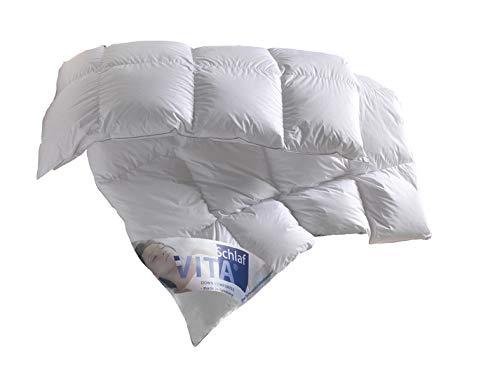 Vita® Schlaf Daunendecke Friesland Gänsedaunen Premium ROYAL WARM Made in Germany (Große Größen) 220 x 240 cm