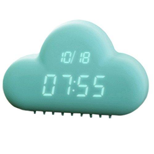 NUEVO moldeada Nubes Despertador Digital/despertador de viaje con función de sonido activado