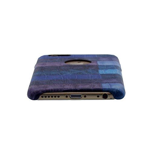 iPhone 7 Coque Case Dur Plastique Gel Housse de Protection Anti Choc Créatif Pierre Style Apparence Mince Poids léger Etui Apple iPhone 7 4.7 inch X 1 stylet bleu