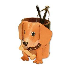 Beagle echtes Leder Animal/Hund Brillen Halterung/Ständer * Vanca * handgefertigt in Japan
