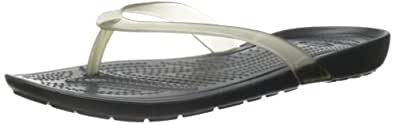Crocs Women's Really Sexi Flip Flop Black/Black Flop 4 M