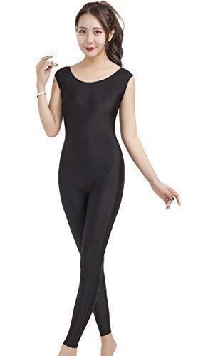 Speerise Damen pandex Tank top Scoop Neck Unitard Active Bodysuit Large schwarz -
