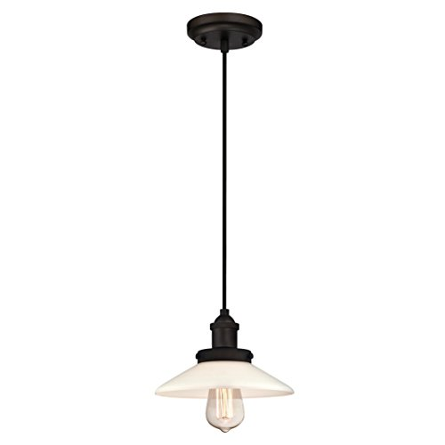 Westinghouse One-Light Indoor Pendant Lámpara de Techo, Bronce Aceitado, 145 cm