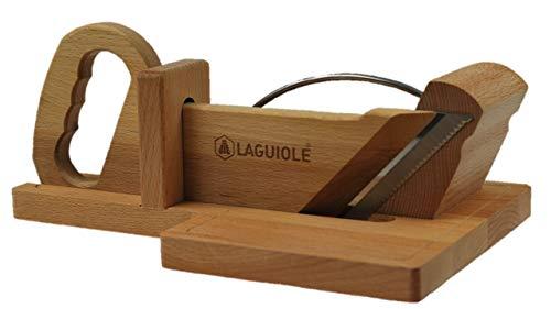 Guillotine à saucisson Laguiole véritable avec lame crantée Made in France, Thiers.