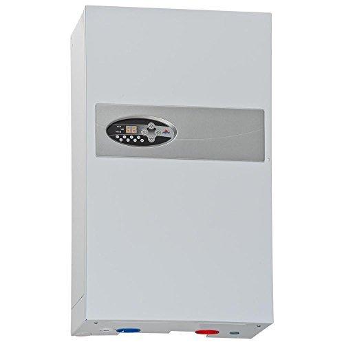instalación de calefacción central de caldera de calefacción eléctrica flujo de agua...