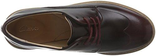 Clarks Damen Zante Zara Brogues Violett (Burgundy Leather)