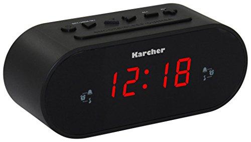 Karcher UR 1030 Uhrenradio (PLL-Radio, dimmbares Display, Dual-Alarm) schwarz