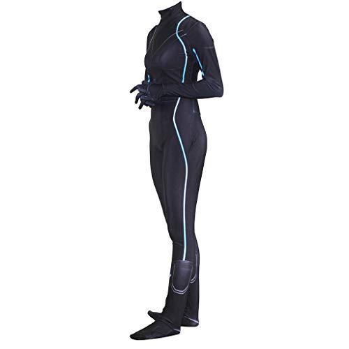 QWEASZER Avengers Cosplay Black Widow Kostüm Erwachsene Frauen Strampler Rollenspiele Bühne Leistung Strumpfhosen Party Halloween Outfit,Black Widow-XXXL