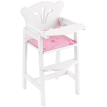 Chaise poupée haute poupon Rose pour bébé Mini Meubles 1:12