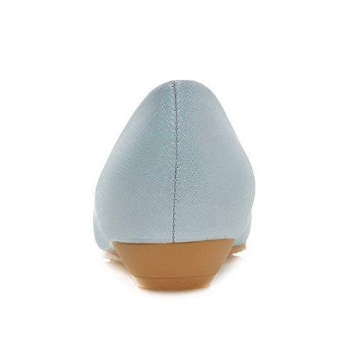 Chiaro Basso Materiale Disegna Tacco Blu Donna Mosaico Punta Agoolar Flessibile Scarpe tqRvnxf6w