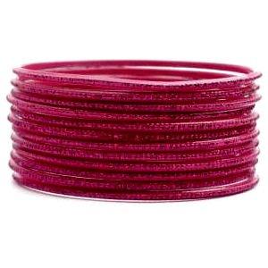 Pink Fuchsia-Acosta Fashion Jewellery-Bracciali Glitter (Set da 12)