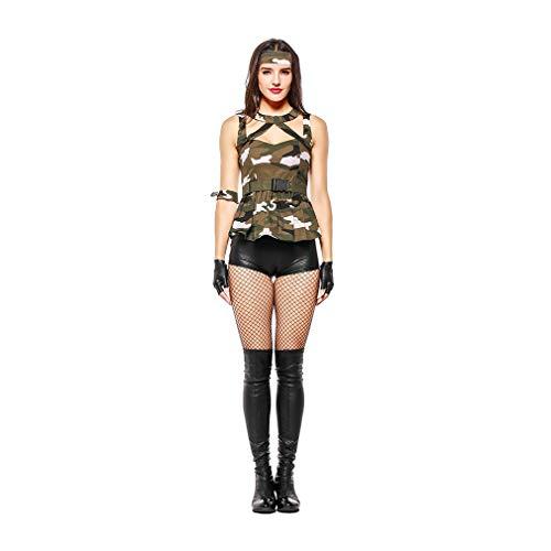 YaXuan Frauen Camouflage Sexy Kostüm Halloween Lehrer Cosplay -