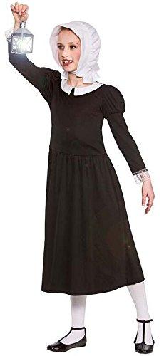 GIRLS BLACK VICTORIAN WARTIME FLORENCE FANCY DRESS COSTUME