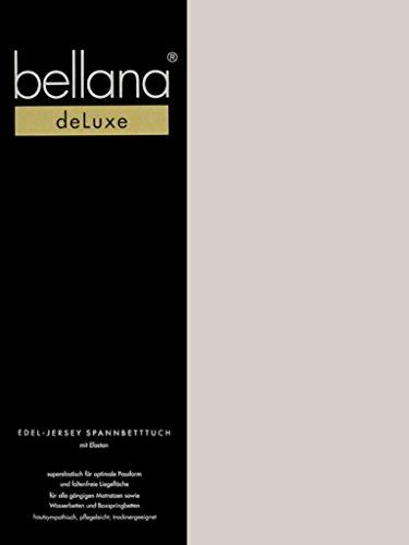 Bellana Deluxe Spannbetttuch für Wasserbetten und Boxspringbetten, 180-200 x 200-220 cm, Taupe (Wasserbett Spannbettlaken Queen)