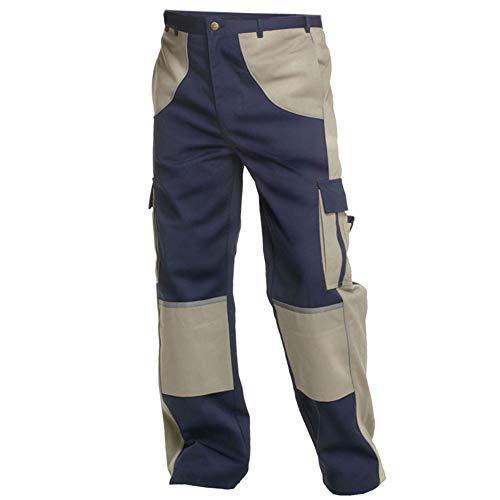 Charlie Barato Arbeitshose Herren Premium Line blau/beige - Bundhose für Handwerker ... (56)