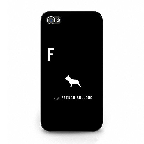 Iphone 4/4s French Bulldog Shell Cover,Cute Creative French Bulldog Phone Case Cover for Iphone 4/4s French Bulldog Fresh Art Color109d