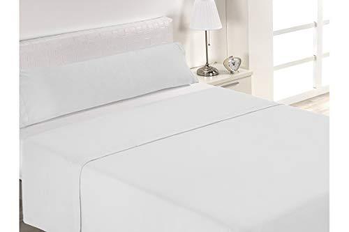Sabanalia - Juego de sábanas de hostelería, Blanco, Cama 105, 3