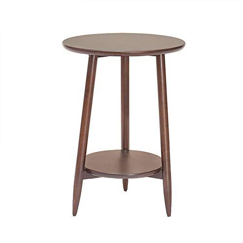 Oak Hall-möbel (ZHAOYONGLI Tische,Beistelltische Eichen-Beistelltisch-festes Holz-Schlafzimmer-Möbel-kleines Ende-hölzerner Kaffee-Flur-Hall-Lampen-Betriebs-Telefon-Stand (Farbe : Walnut+Oak, größe : 42 * 60cm))