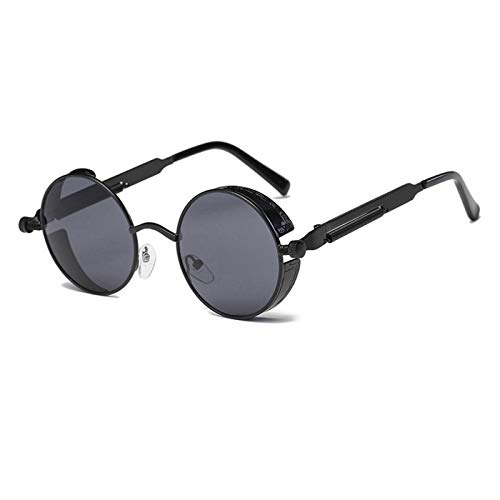 Daawqee Metal Round Steampunk Sunglasses Men Women Fashion Glasses Designer Retro Frame Vintage Sunglasses High Quality UV400 1
