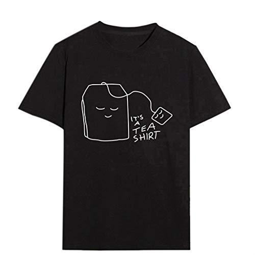Damen Mädchen Plus Size Print Tee Shirt Kurzarm T Shirt Bluse Tops