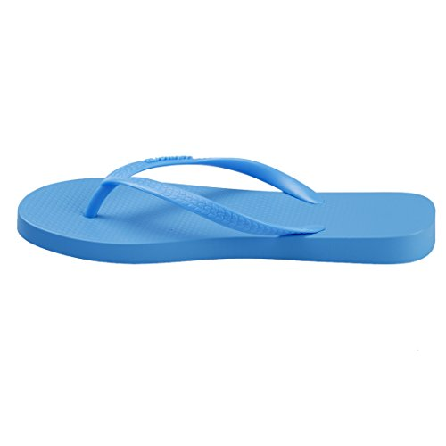 Hotmarzz Tongs Femme dete Plage Mariage Sandales Piscine Slim Flip Flops Blu