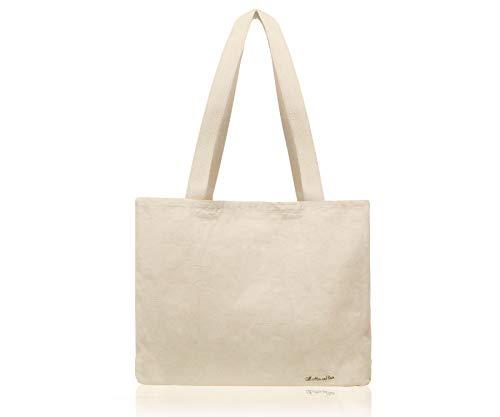 Alle Baumwolle und Leinen - Leinwand-Tragetaschen-Weiß Einkaufstasche(35x43x12cm) Schwerlast,Lebensmittelgeschäft-Einkaufstasche (Und Halloween Handwerk Machen Für Kunst Zu)